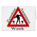 zombie awareness week greeting card