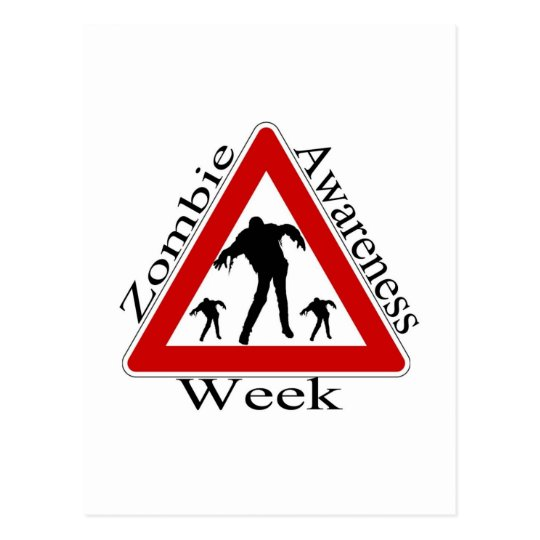 zombie awareness week postcard