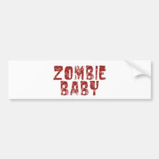 zombie baby bumper sticker