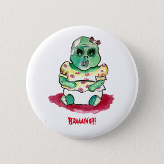 Zombie Baby Girl Pinback Button
