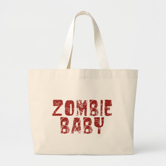 zombie baby large tote bag