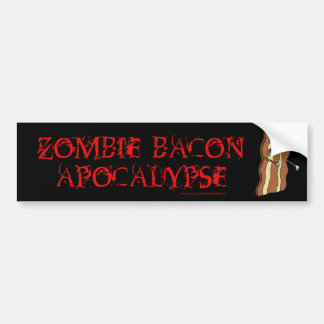 Zombie Bacon Apocalypse BLACK bumper sticker