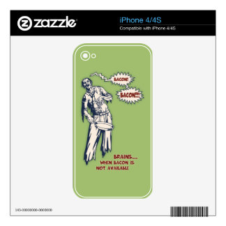 Zombie - Bacon Skins For iPhone 4S