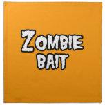 ZOMBIE BAIT - - Halloween Cloth Napkins