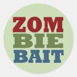 ZOMBIE BAIT ROUND STICKERS