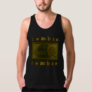 Zombie! Banner Tree Green Yellow 2 Tank Top