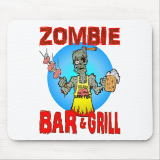 Zombie Bar & Grill Mouse Pad