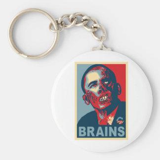Zombie Barack Obama Keychain