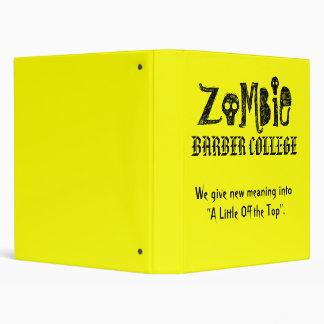 Zombie Barber College Top Binder