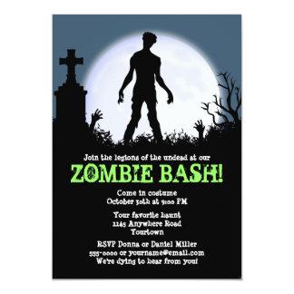 "Zombie Bash Halloween Party 5"" X 7"" Invitation Card"