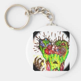 zombie basic round button keychain