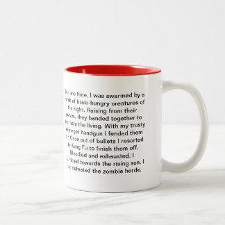 Zombie Battle Two-Tone Coffee Mug