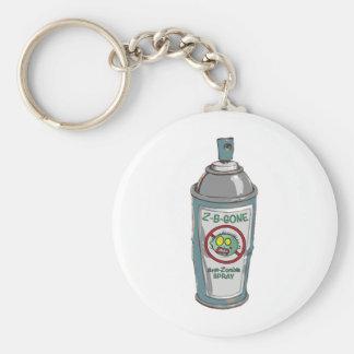 Zombie be gone spray can keychain