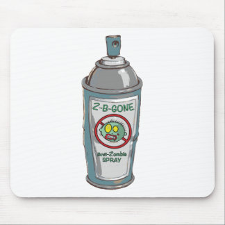 Zombie be gone spray can mouse pad