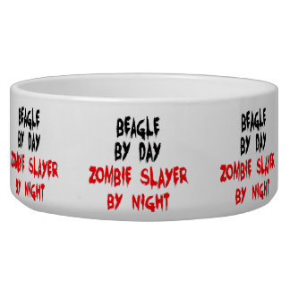 Zombie Beagle Dog Joke Bowl