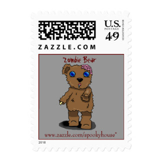 Zombie Bear Stamps. Stamp