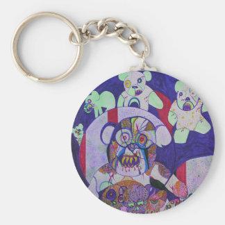 Zombie Bears Basic Round Button Keychain