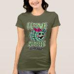 Hand shaped Zombie Bee I Love Zombees T-Shirt