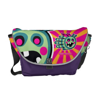 Zombie bee is hungry! messenger bags