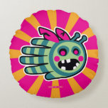 Hand shaped Zombie bee is hungry! round pillow
