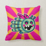 Hand shaped Zombie bee is hungry! throw pillow
