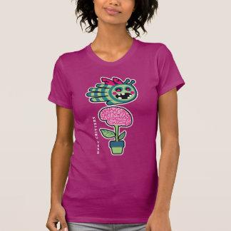 Zombie bee loves brain flower t-shirt