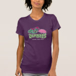 Hand shaped Zombie bee loves brain t-shirt