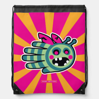 Zombie Bee Drawstring Backpack