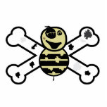 zombie bee zombee and crossbones acrylic cut outs