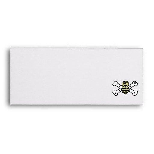 zombie bee zombee and crossbones envelope