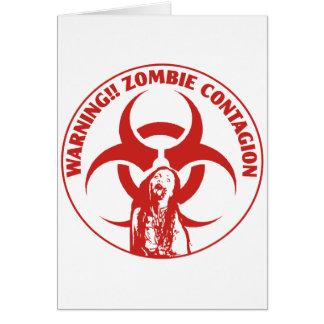 Zombie Bio-hazard Contagion Card
