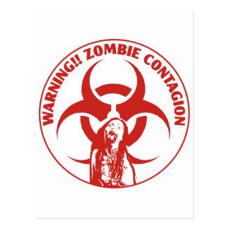Zombie Bio-hazard Contagion Postcard