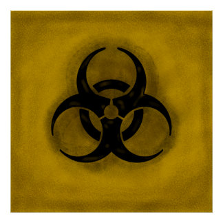 Zombie Biohazard Poster