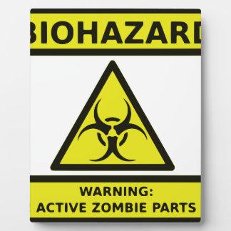 Zombie Biohazard Sign Plaque