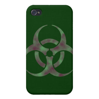 Zombie Biohazard Symbol Cover For iPhone 4