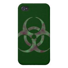 Zombie Biohazard Symbol Iphone 4/4s Cover at Zazzle
