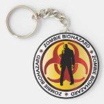 Zombie Biohazard Waste Basic Round Button Keychain