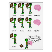 Zombie birthday cards greeting photo cards zazzle bookmarktalkfo Images