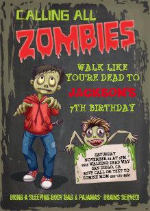 Zombie Halloween Invitations Zazzle