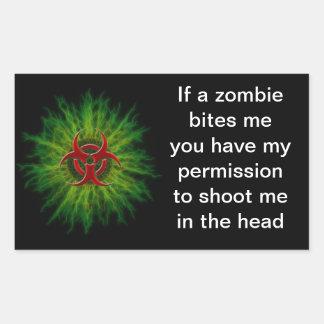 Zombie Bites Rectangular Sticker