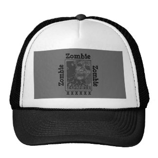 Zombie Black and White Trucker Hats