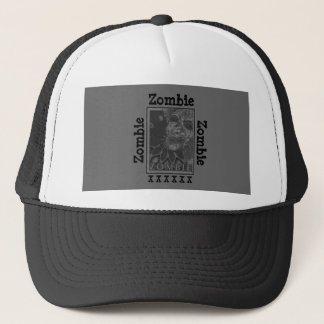 Zombie Black and White Trucker Hat