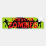 Zombie Black Silhouette Red n Green Bumper Sticker Car Bumper Sticker