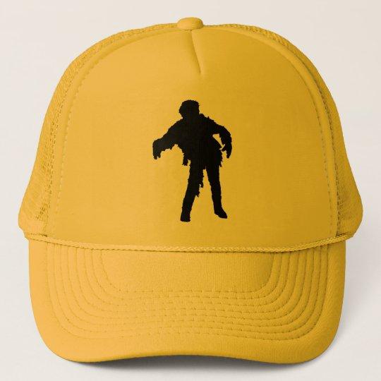 Zombie Black Silhouette Trucker Hat