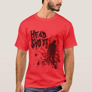zombie blood splatter - Head Shot! T-Shirt