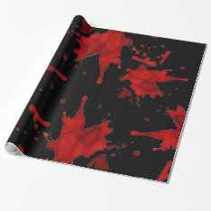 Zombie Blood Splatter Wrapping Paper at Zazzle