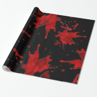 Zombie Blood Splatter Wrapping Paper
