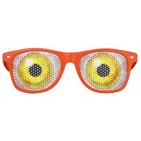 Zombie Bloodshot Yellow Bulging Eye Ball Retro Sunglasses