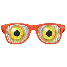 Zombie Bloodshot Yellow Bulging Eye Ball Retro Sunglasses at Zazzle