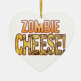Zombie Blue Cheese Ceramic Ornament